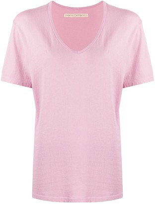 Raquel Allegra oversized V-neck T-shirt