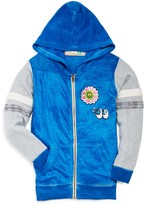 Vintage Havana Girls' Patch Detail Velour Hoodie