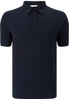 Samsoe & Samsoe Heim Stretch Polo Shirt, Total Eclipse