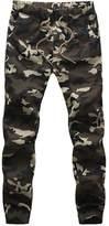 Bingbonn Mens Camouflage Joggers Sweatpants Camo Cargo Pants (3XL, )