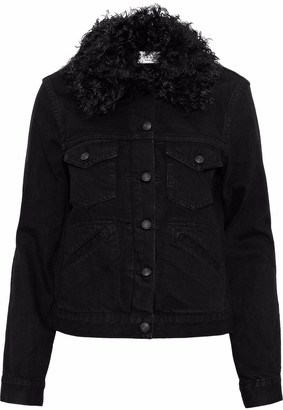 Derek Lam 10 Crosby Shearling-trimmed Denim Jacket