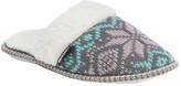 Muk Luks Women's Fairisle Knit Scuff