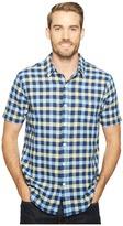 True Grit Beach Checks Short Sleeve One-Pocket Shirt Real Indigo Yarns Men's Clothing