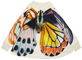 Molo Butterfly Print Cotton Terry Cape