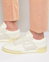 Reebok Workout Low Leather 'butter' Sneakers In White Ar1421