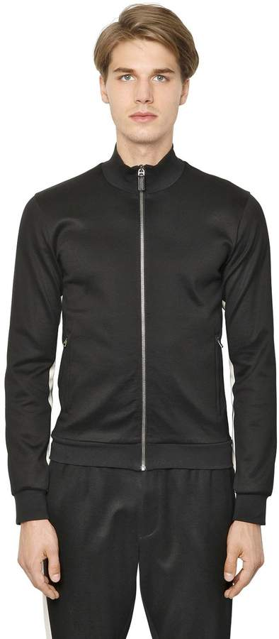 Dolce & Gabbana Zip Up Double Cotton Sweatshirt