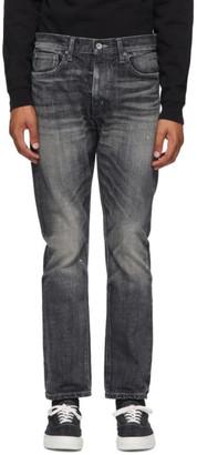 Neighborhood Black Washed Deep Narrow Jeans