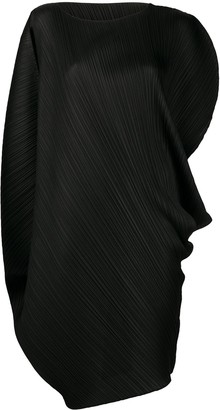 Pleats Please Issey Miyake Pleated Asymmetric Style Dress