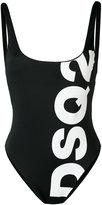DSQUARED2 logo-printed swimsuit - women - Polyamide/Spandex/Elastane - 40