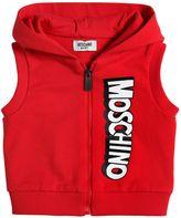 Moschino Logo Print Light Cotton Sweatshirt Vest