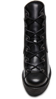Pierre Hardy Cordovan Matte Calfskin Leather Wedge Booties in Black