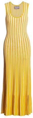 Lela Rose Stripe Knit Midi Dress