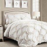 Lush Decor Chic 3 Piece Comforter Set, King, White