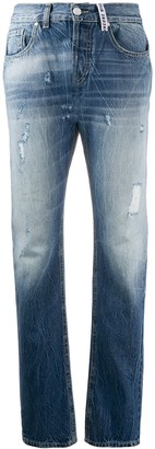 Frankie Morello High Rise Straight-Leg Jeans