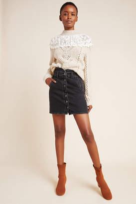 Pilcro And The Letterpress Pilcro Button-Front Denim Mini Skirt