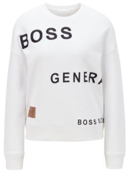 HUGO BOSS Relaxed-fit sweatshirt with collection-themed prints