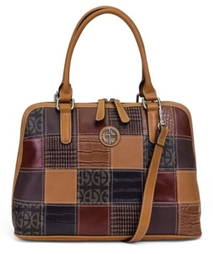 Giani Bernini Patchwork Dome Satchel, Created for Macy's