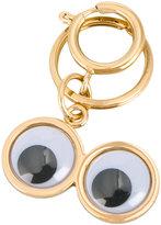 Sophie Hulme Googly Eye keychain - women - Brass - One Size