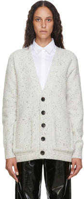 Tibi Off-White Eco Tweedy Oversized Cardigan