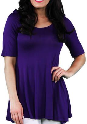 24/7 Comfort Apparel 3/4 Sleeve Womens Tunic Top