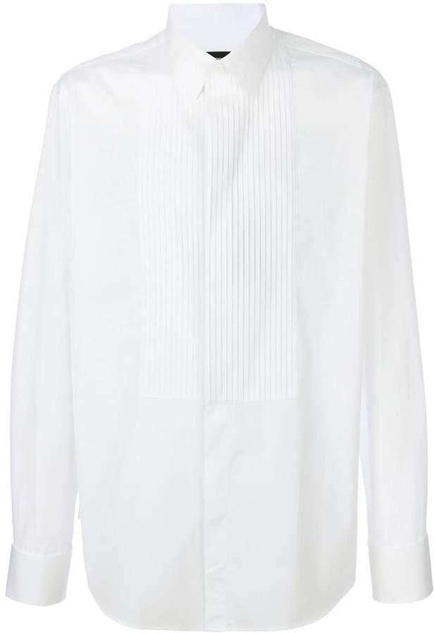 Giorgio Armani pleated bib shirt