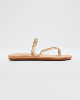 Ancient Greek Sandals Metallic Flip-Flop Sandals