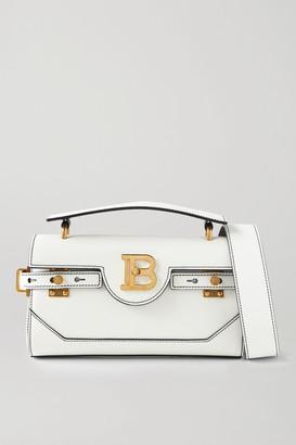 Balmain B-buzz 26 Medium Leather Shoulder Bag - White