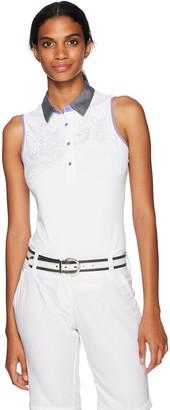 Cutter & Buck Women's Moisture Wicking UPF 50+ Sleeveless Neves Polo Shirt