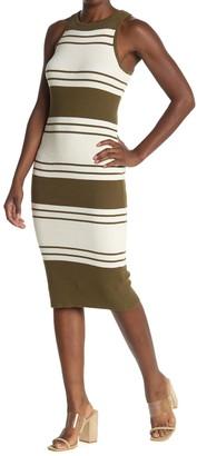 Frame Panel Stripe Rib Dress