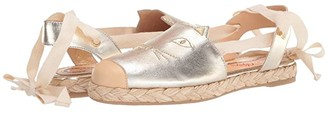 Charlotte Olympia Tie Up Kitty Espadrilles (Gold) Women's Shoes