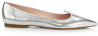 Roger Vivier I Love Vivier Metallic Leather Flats