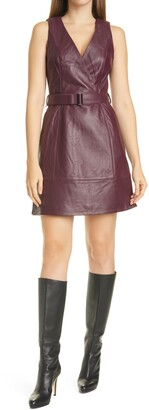 Ted Baker Palmara Sleeveless Leather Dress