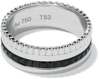 Boucheron 18kt white gold Quatre Black small ring