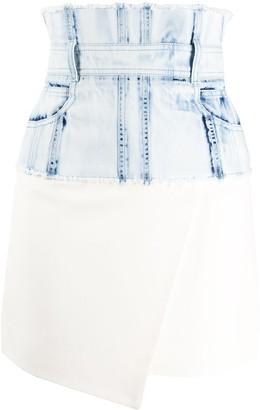 Balmain high-waisted asymmetric skirt