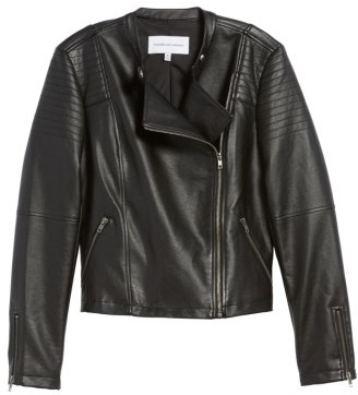 Cupcakes And Cashmere Women's Cherlin Faux Leather Moto Jacket
