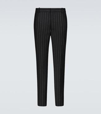 Alexander McQueen Slim-fit pinstriped pants