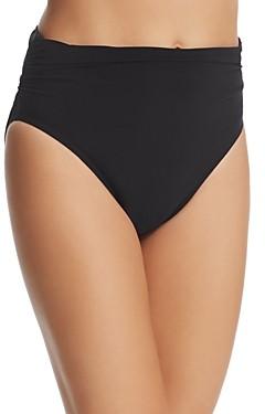 Magicsuit Solid Jersey Shirred Bikini Bottom