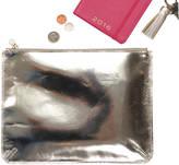 Undercover Metallic Leather Clutch Purse