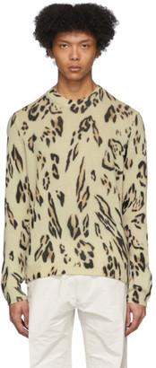 MONCLER GENIUS 2 Moncler 1952 Beige Cashmere Leopard Sweater