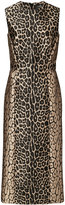 J. Mendel leopard print fitted dress