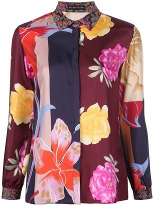 Etro Panelled Silk Skirt