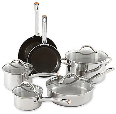 Farberware 10-pc. Stainless Steel Cookware Set