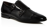 Canali Printed Double Monk Loafers