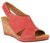 Clarks As Is Nubuck Wedge Sandals with Backstrap - Helio Float