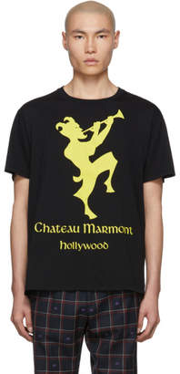 Gucci Black and Yellow Chateau Marmont T-Shirt