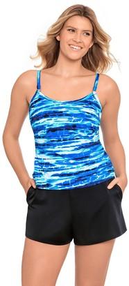 Croft & Barrow Women's Tummy Control One-Piece Romper Swimsuit