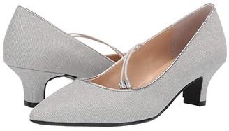 J. Renee Idenah (Silver Glitter Fabric) Women's 1-2 inch heel Shoes