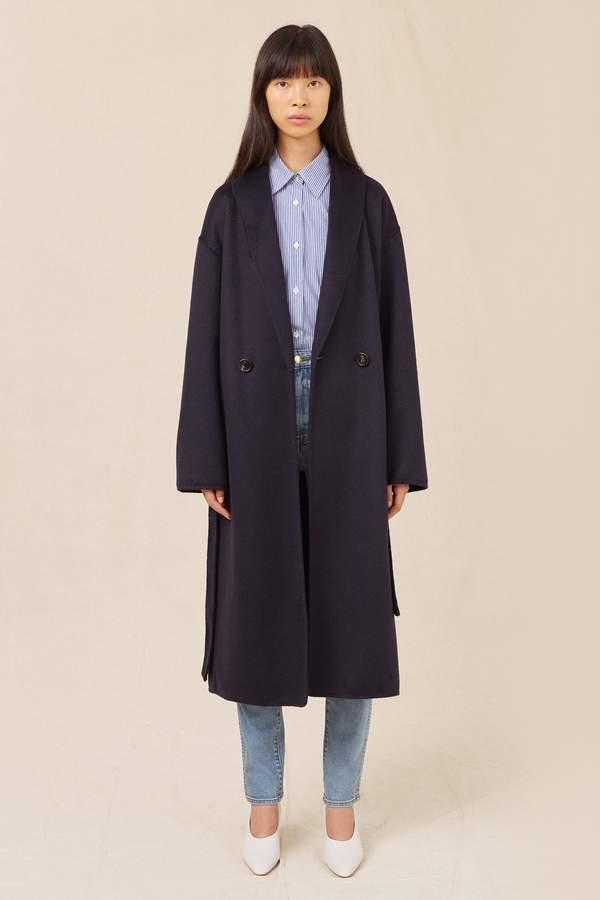 Mansur Gavriel Cashmere Cozy Coat - Blu