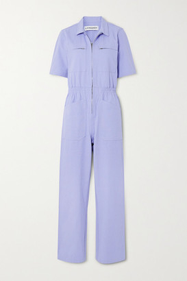 L.F. Markey Danny Cotton-canvas Jumpsuit - Purple