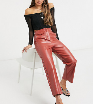 Fashion Union high waist pants in faux leather